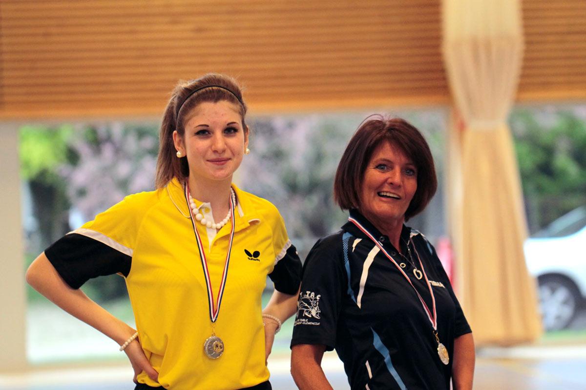 Pascale RAPY et Laurine MAUPOME montent sur le podium aux championnats de l'Ain 2015