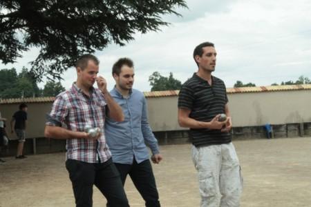 Gary la recrue, Flo' le nouveeu président et Damien le montagnard sont à fond dans la partie